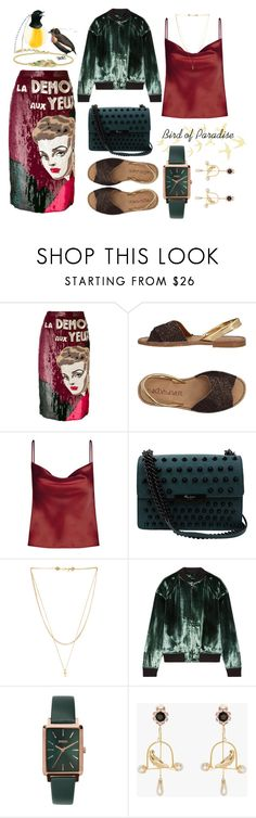 """""""Bird of Paradise"""" by oursagirla on Polyvore featuring Olympia Le-Tan, Sixtyseven, Foley + Corinna, Vanessa Mooney, J Brand and Breda"""