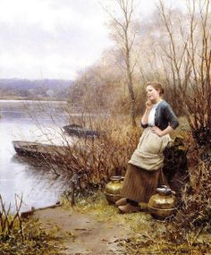 Daniel Ridgway Knight (1839 – 1924) » A Lovely Thought