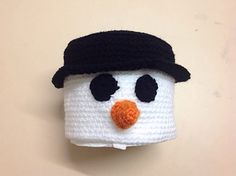 Ravelry: Snowman Toilet Roll Cover pattern by Selena Wallace