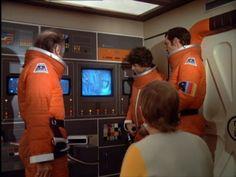 Interior of Eagle passenger module.