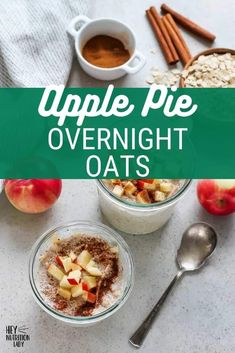 Make these easy Apple Cinnamon Overnight Oats and your breakfast will be a cinch! This healthy and gut-friendly recipe uses yoghurt for a light fermentation of the oats, and cinnamon for incredible flavour. Vegetarian Comfort Food, Tasty Vegetarian Recipes, Freezer Friendly Meals, What's For Breakfast, Grain Foods, Batch Cooking, Apple Cinnamon, Healthy Fruits, Winter Recipes