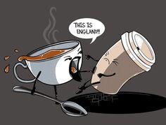 Go tea!// not for high tea, however. funny none the less! Funny Puns, Hilarious, Grammar Funny, Funny Stuff, Funny Doodles, Cuppa Tea, Funny Illustration, Tea Art, Funny Tee Shirts