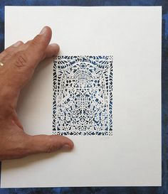 hand cut paper miniature. Shivity. #menorah #judaica