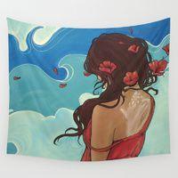 68 X 80 Kess InHouse Lydia Martin Knee deep Wall Tapestry