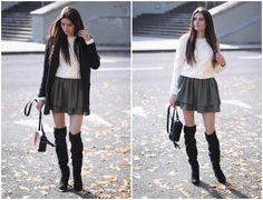 moda-eny.blogspot.com: ZESTAW NA JESIEŃ Z WARKOCZYKOWYM SWETERM I DWUWARSTWOWĄ SPÓDNICĄ #fetishpantyhose #pantyhosefetish #legs #boots #blogger #stiletto #pantyhose #collant #tan