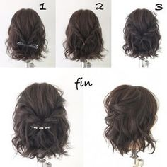 Prom Hairstyles Classy Beauty is part of Elegant Hairstyles For Prom Popular Haircuts - Hairstyles elegant simple ideas Medium Hair Styles, Curly Hair Styles, Elegant Hairstyles, Hairstyles For Short Hair Formal, Teenage Hairstyles, Bride Short Hair, Bob Hairstyles How To Style, Wedding Hairstyles For Short Hair, Short Braided Hairstyles