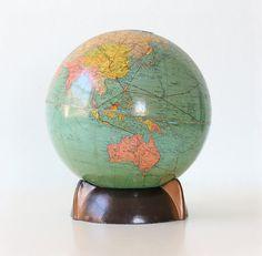 Vintage Globe by Replogle Art Deco Style by bellalulu