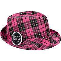Pink Plaid Birthday Fedora. I own this!
