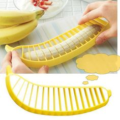 NEW Banana Slicer Cutter Chopper Fruit Salad Vegetable Peeler Kitchen Tool #594