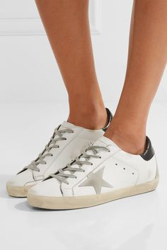 75092ab7e49e13 Golden Goose Deluxe Brand - Super Star Distressed Suede-paneled Leather  Sneakers - White Distressed