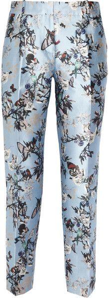 J.Crew Printed Silk Capri Pants - Lyst