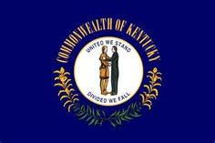 Find details and a picture of the Kentucky Flag. Kentucky Legislature officiated the design, colors, and specifications for the Kentucky state's flag. Us States Flags, U.s. States, United States, Kentucky State Flag, Kentucky Derby, Flag Art, My Old Kentucky Home, Flags Of The World, Usa