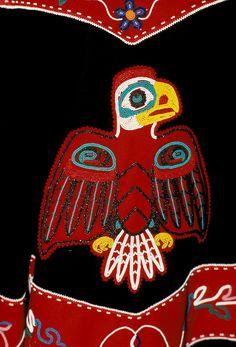 Alaska Tlingit Indian clothing, eagle motif. Photo Copyright: Lee Foster