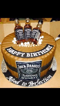 Aged to perfection - Jack Daniels cake