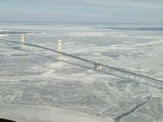 A view of the Mackinac Bridge 1-30-14