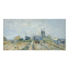 Montmartre Mills and Vegetable Gardens by Van Gogh Perfect Poster