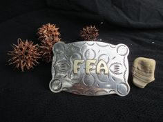 Vintage Silver and Gold FFA Belt Buckle ~ Future Farmers of America Belt Buckle ~ FFA Buckle ~ Justin Belt Co. Inc. by MemoriesOfMargaret on Etsy
