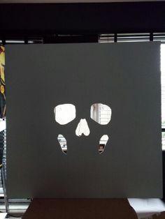 Holes in canvas for new painting