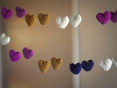 Knitted Heart Heart Garland by eweewe! Free pattern page More Patterns Like This! Baby Hat Knitting Pattern, Knitting Patterns Free, Free Knitting, Free Crochet, Free Pattern, Crochet Patterns, Knitted Heart, Heart Garland, Yarn Store
