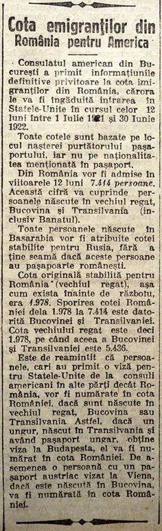 "'Cote, vize, emigranți ... Sursa: ""Universul"" din 26 iunie 1921. https://www.facebook.com/militiaspirituala.ro/photos/a.357311034292884.86692.130535190303804/1064176030273044/?type=3&theater"