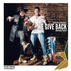 """How much fun do you have getting your BOOTS on? The guys from Montgomery Gentry couldn't wait to get SILLY in their BOOTS and show that they support America's Warrior Class! """"We're proud to join the Boot Campaign family to help support our military men and women!"""" - Montgomery Gentry"""