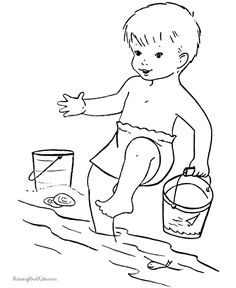 Summer Beach Coloring Pages Picture 8