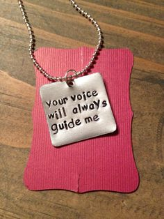 "This listing is for a hand stamped quote necklace. The necklace is stamped with the quote ""why fit in when you were born to stand out"". If you would like a different quote, in similar length, please l"
