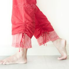 Comfy Drawstring Cotton Pants in Red by oOlives on Etsy, $28.00