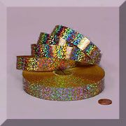 "3/4"" Holographic Sparkle Ribbons"