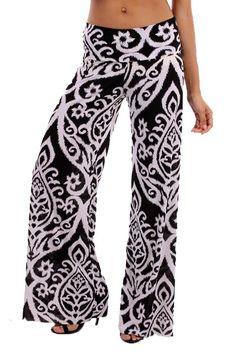 Kelly Brett Boutique: Women's Online Clothing Boutique - Palazzo Pants Damask Black, $28.00 (http://www.kellybrettboutique.com/palazzo-pants-damask-black/)