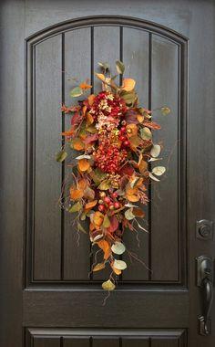 Fall Wreath Autumn Wreath Thanksgiving by AnExtraordinaryGift