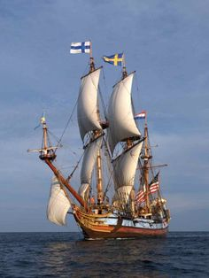 """kalmar nyckel"" | traditional old-school sailing ship"