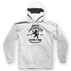 House Lannister Unisex Hoodie White / S Game Of Thrones King, Casterly Rock, Best Television Series, Baby Costumes, Custom Hats, White Hoodie, Black Tank Tops, Winter Hats, T Shirts For Women