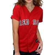 Majestic Boston Red Sox Ladies Red Replica Baseball Jersey
