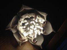 Hand made led-light flower lamp. easy DIY