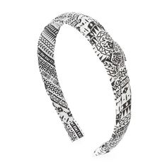 Black and White Print Knotted Headband | Claire's