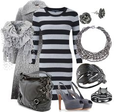 """""""Grey Fog"""" by michelle-hersh-wenger on Polyvore"""