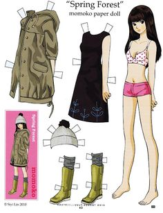 Spring Forest * 1500 paper dolls at International Paper Doll Society by artist…