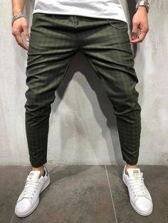 30c64182e4f24b Plaids  amp  Checks Ankle Pants - Khaki - Pants - mens streetwear   trendsmensfashion Mens