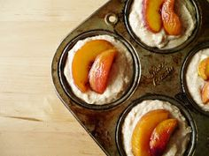 sweet miscellany: Cardamom Peach Muffins