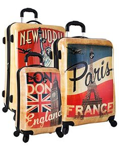 Heys Vintage TravellerParis London  New York3pc Set One Size New YorkParisLondon * Click on the image for additional details.