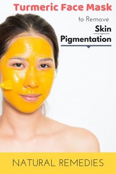 Turmeric face pack that will remove pigmentation and dark spots completely from your skin Turmeric Face Mask To Remove Skin Pigmentation Diy Tumeric Face Mask, Turmeric Face Pack, Tumeric Hair, Dark Spots On Skin, Skin Spots, Dark Skin, Acne Face Mask, Acne Skin, Face Masks