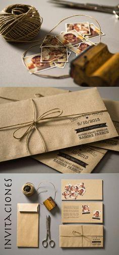 modele faire part mariage à faire vous-memes en carton beige, photos de décoration carte d'invitation mariage