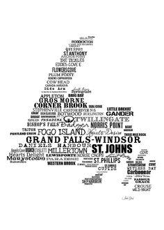 11x14 16x20 Custom name Newfoundland place by DreamsandNotions