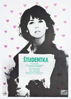 Vintage Movie Poster - L'étudiante with Sophie Marceau, Poster Art designed by Unknow Artist, 1991 by jozefSquare on Etsy
