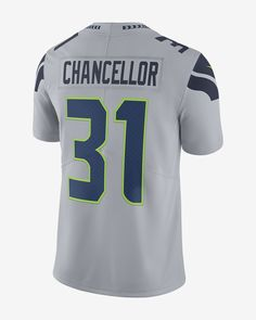 Nike Nfl Seattle Seahawks Limited Jersey (Kam Chancellor) Men's Football - 3XL Grey