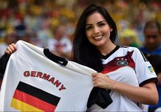 Apparently Germany's winning streak isn't the only attraction at the 2014 World Cup. This German fan did her country proud as she supported Germany during their match against France on July 4, 2014.