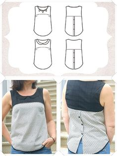 Tee shirt Plus Baby Girl Dress Patterns, Dress Sewing Patterns, Kurti Neck Designs, Blouse Designs, Diy Clothes Refashion, Altering Clothes, Sewing Clothes, Refashioning, Fashion Outfits