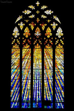 Cork stained glass (Vitraux à Cork) | Saint Mary and Saint A… | Flickr
