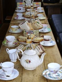 Tea Appreciation Society | Tea Appreciation Society – We love tea (I don't see any linens, lace, cloth napkins, or plates?)